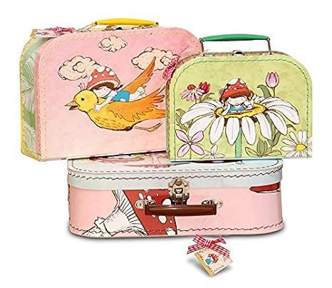 KAZETO 7679548-6203-1502 - Lote de 3 Maletas Infantiles diseño de Dibujos: Amazon.es: Hogar