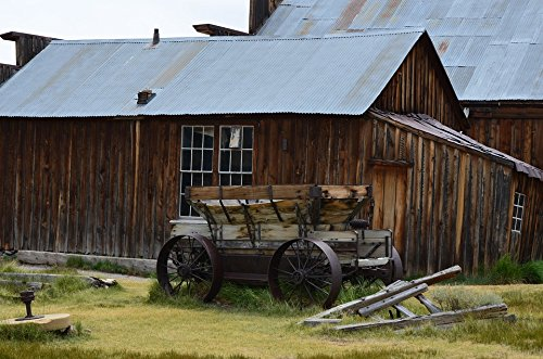 - Home Comforts Peel-n-Stick Poster of Rustic Historic Ghost Town Wagon Bodie Poster 24x16 Adhesive Sticker Poster Print