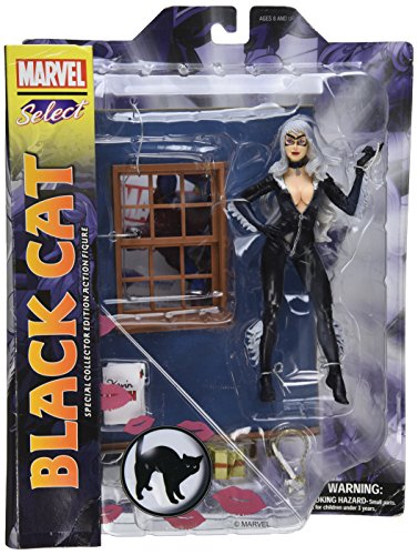 Marvel Select Black Cat: Special Collector Edition Action Figure With Highly Detailed Base