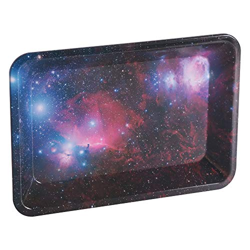 Galaxy Metal Tobacco Cigarette Rolling Tray Essential Smoking Holder Trays Smoke Accessories 7.08