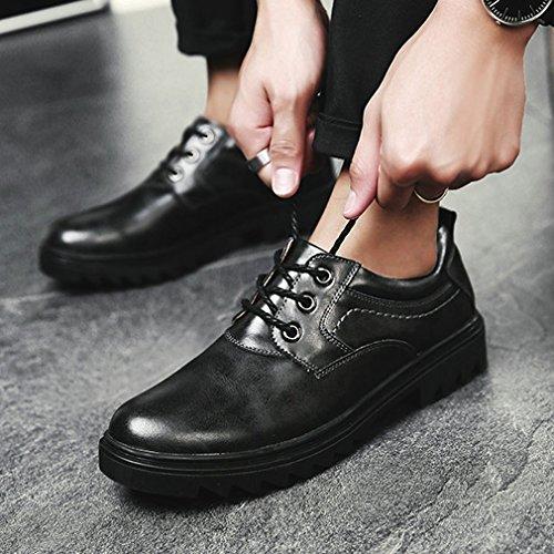 punta di up rotonde Lace Nero punte attrezzo della Xianshu scarpe pOqaBW