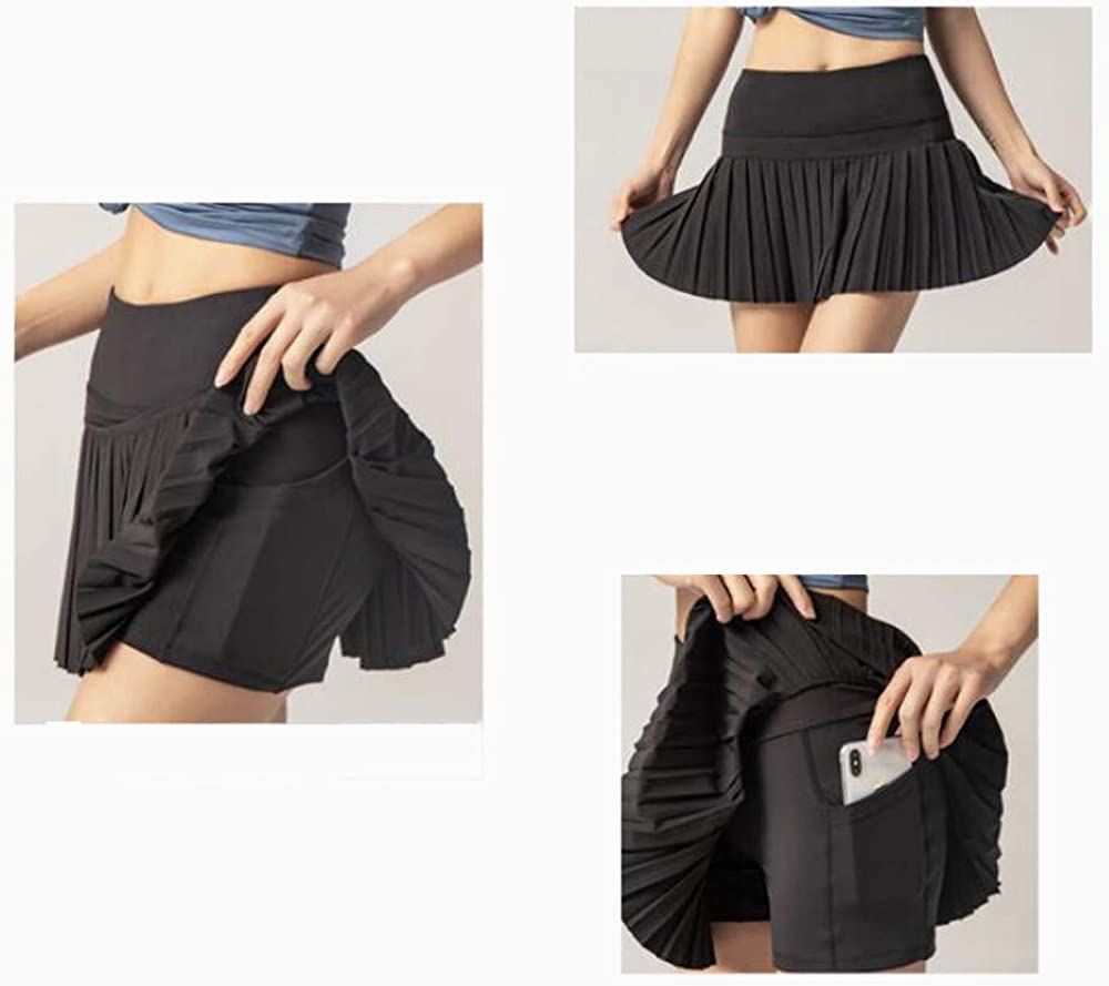 SIMYJOY Women 2 in 1 Active Athletic Skort Sports Skirts with Built-in Pocket Quick Dry Breathable Workout Skirts