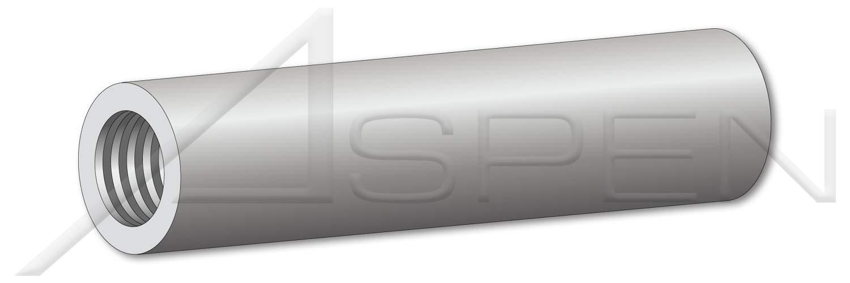 (275 pcs) #4-40 X 1'', Round Female Standoffs, 3/16'' Diameter, Aluminum