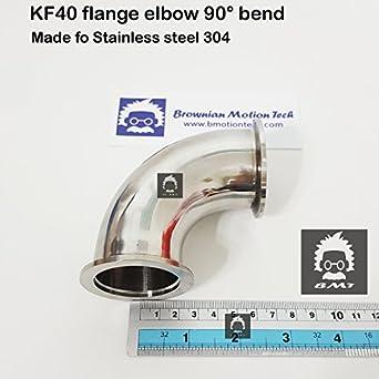 KF40 / QF40 / NW40 brida codo 90° acero inoxidable 304 adaptador ...