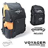 MVP Disc Sports Voyager Backpack Disc Golf Bag with Forcefield Rainfly - Orange