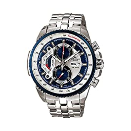 Casio #EF558D-2AV Men's Edifice Stainless Steel Sports Analog Chronograph Watch