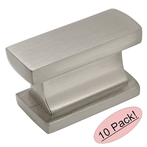 Contemporary Nickel Knobs (Cosmas 701SN Satin Nickel Contemporary Cabinet Hardware Knob - 1-7/16