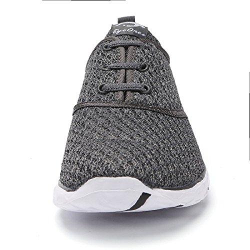 Eyeones Waterproof Shoes Perfect Phone Water Lightweight For Women's 586xi Men's Mesh Dark Slip on Case Match Aqua Drying Quick gray 66rCqFPwB