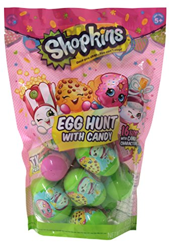 Frankford Candy Company Shopkins Plastic Candy Egg Bag, 2.82