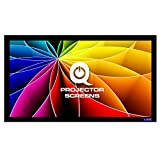 QualGear 120-Inch Fixed Frame Projector Screen, 16:9 4K HD Ultra White at 1.2 Gain (QG-PS-FF6-169-120-W)