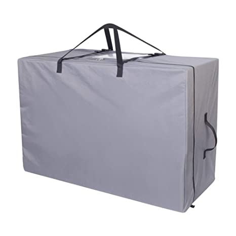Cuddly Nest Folding Mattress Storage Bag Heavy Duty Carry Case For Tri Fold Guest Bed Mattress Grey Fits Up To 6 Twin Size Mattress