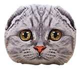 3D Cat Stuffing Throw Pillow Stuffed Plush Toy Play Doll Home Decoration Filling Cushion for Family Room Saloon Sofa Couch Lounge Deck Chair Seat Back Bench