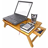 Mesa de bambú para portatil con rejillas de ventilación