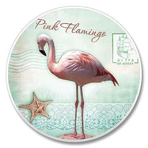 Pink Flamingo Auto Car Truck Boat Coaster (1)