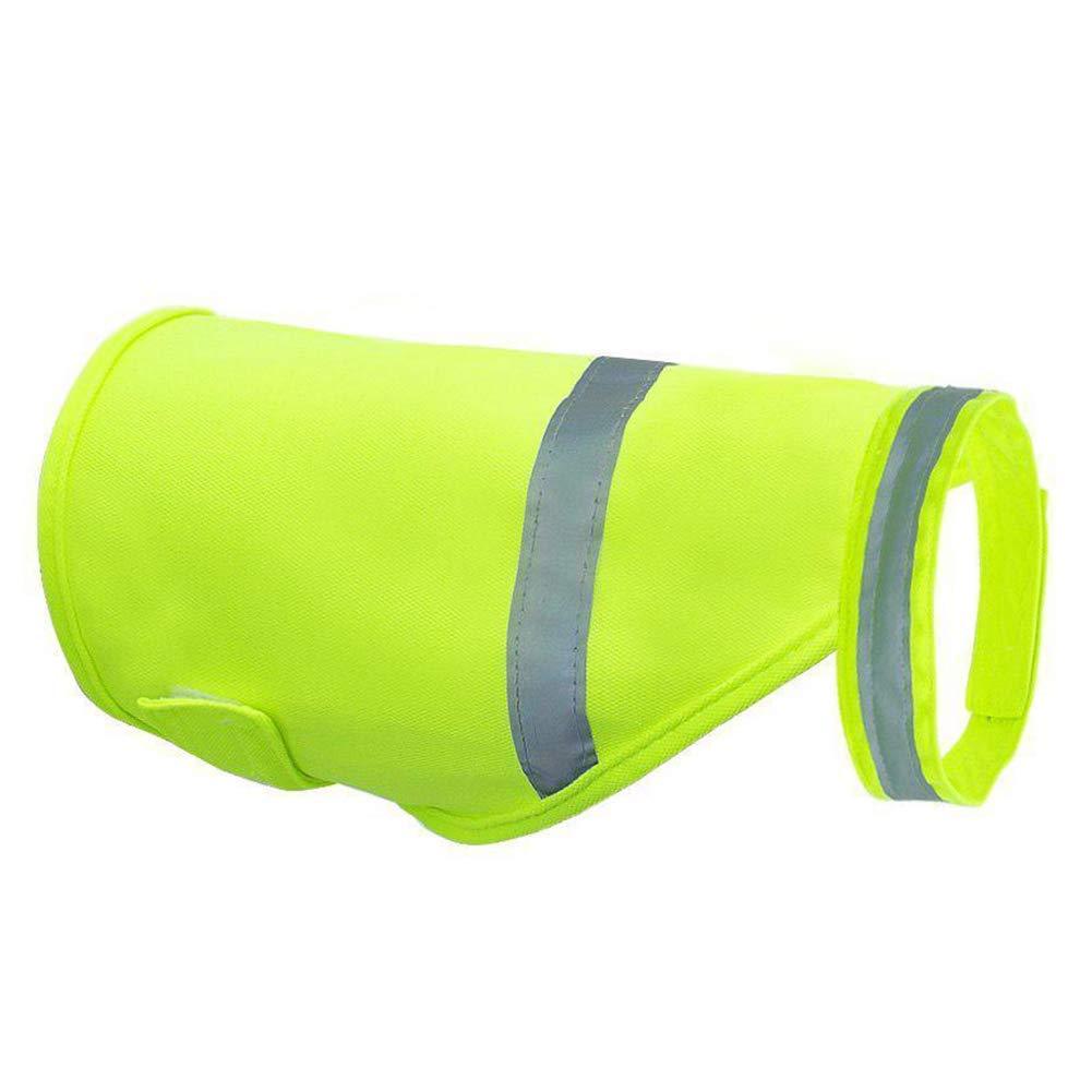 ropa reflectante casual para mascotas Disfraces de alta visibilidad para caminar y hacer ejercicio X-Large para senderismo al aire libre Chaleco de seguridad para perros