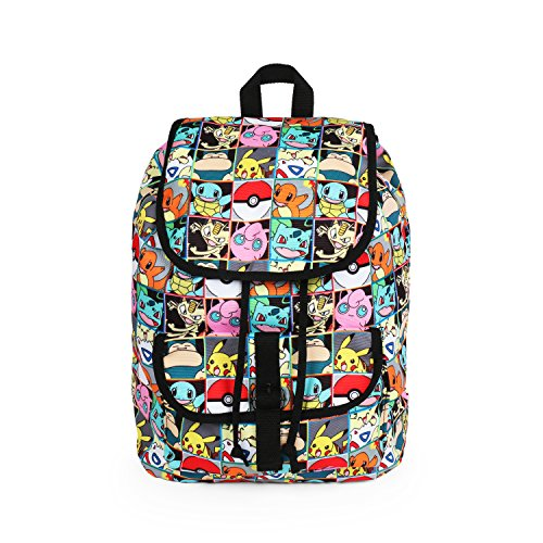Pokemon All Over Print Pikachu and Characters Checkered Rucksack Backpack School Bag