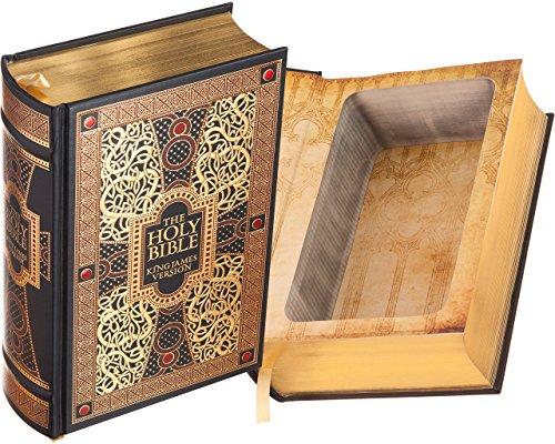 Real Hollow Book Safe - The Holy Bible - King James Version (Leather-bound) (Magnetic Closure)
