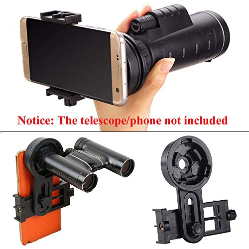 AYAMAYA Universal Smartphone Adapter Mount Telescope Connection Stand Holder Compatible with Binocular Monocular Spotting Scope Telescope and Microscope for Eyepiece Diameter 26mm to 46mm by AYAMAYA (Image #1)