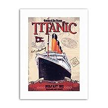 TITANIC LINER DISASTER QUEEN OCEAN Poster Travel Sport Canvas art Prints