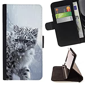 For Sony Xperia T3 / M50W Majestic Snow Panther Tiger Lion Style PU Leather Case Wallet Flip Stand Flap Closure Cover