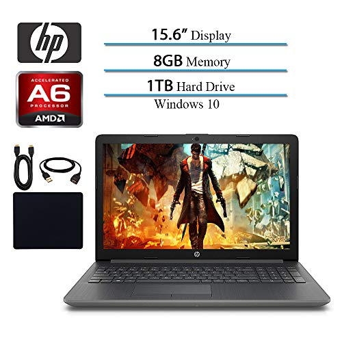 HP 2019 Newest Premium 15.6-inch HD Laptop, AMD A6-9225 Dual-Core 2.6 GHz, 8GB RAM, 1TB HDD, AMD Radeon R4, WiFi, HDMI, MaxxAudio, Bluetooth, Windows 10 (Best Laptops Of 2019)