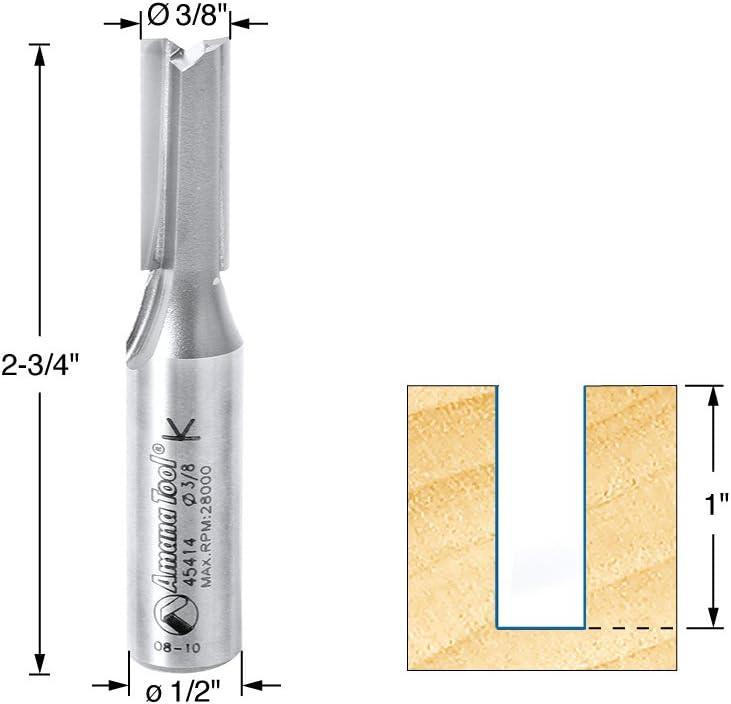 45414-3US 3 Flute Carbide Tipped 3 Deg High Production Shear Straight Plunge Amana Tool