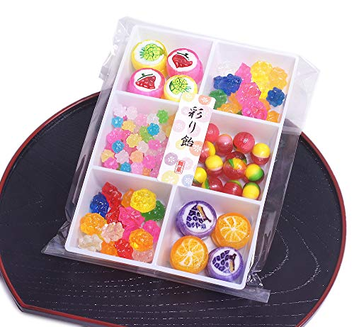 Colorful KONPEITO and Cute Candy 6 squares Assorted Japanese Candy (Fruits (Type: R)) ()