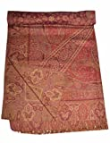 Indian Bedspread- Galicha India Inspired Print Hand Loom Woolen SL871