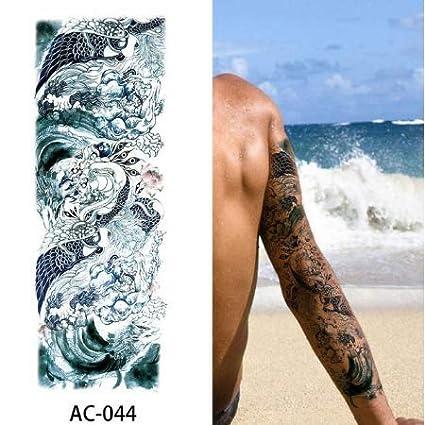 Brazo Completo Tatuaje Temporal Manga Tatuajes Impermeables para ...