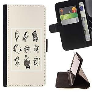 Momo Phone Case / Flip Funda de Cuero Case Cover - Artista Rendering cartel amarillo Personajes - LG Nexus 5 D820 D821