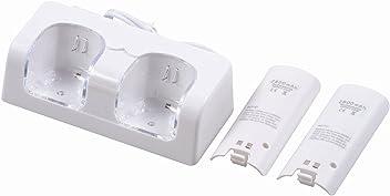 booEy Ladestation 2in1 für Wii Controller + 2x Akku 2800mAh, weiß
