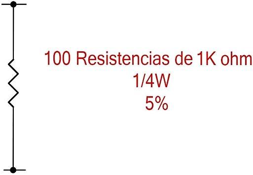 100x 6,65 kOhm metal película resistencia 1/% forma compacta 0204