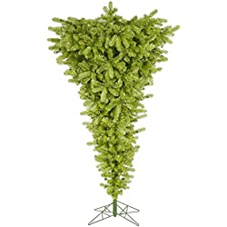 Vickerman 75' Lime Upside Down Artificial Christmas Tree with 500 Clear lights