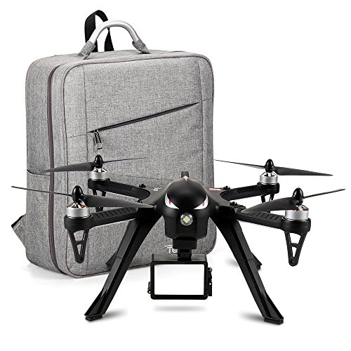 Brushless Motors RC Drone with Waterproof Carrying Backpack Case-MJX Bugs 3 Brushless Drones Set, 300Meters Control Distance, 15 Mins Flying Time RTF Drone Gopro for Drone Racing