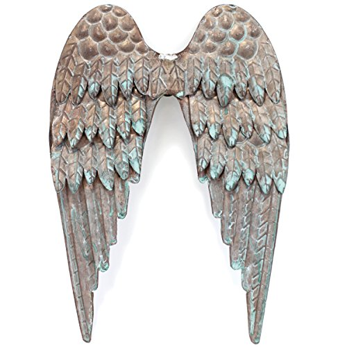 Copper Patina Metal Angel Wings 8