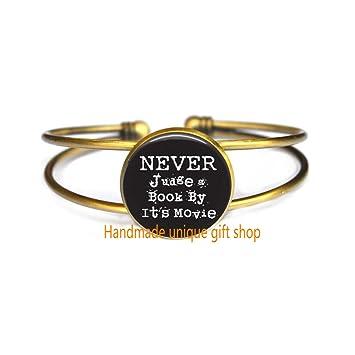 Amazon.com: Pulsera inspiradora de moda, con cita «Never ...