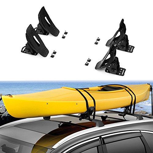 chebay Kayak Baca canoa barco parte superior de techo de surf esquí montado en travesaño con correas se adapta para Kia...