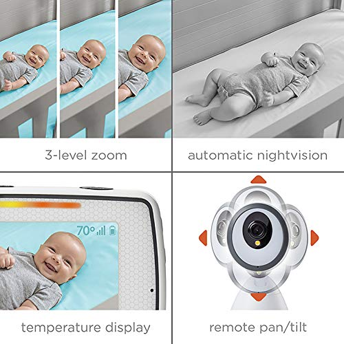 Summer Baby Pixel Video Baby Monitor with 5-inch Touchscreen and Remote Steering Camera - Baby Video Monitor with Clearer Nighttime Views and SleepZone Boundary Alerts by Summer Infant (Image #2)