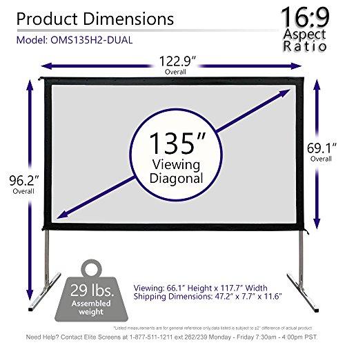 Elite Screens Yardmaster DUAL, 135-INCH 16:9, Projection, 4K/8K Ultra