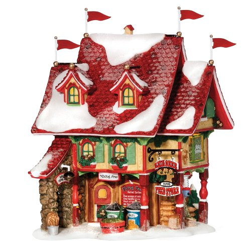 Department 56 North Pole Reindeer Flying Feed Store (Reindeer North Pole 56)