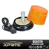 Xprite-6-High-Intensity-Super-Bright-YellowAmber-Revolving-12-LED-36W-LED-Emergency-Vehicle-Magnetic-Mount-Strobe-and-Rotating-Beacon-Warning-Light