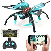 JJRC H42 RC Quadcopter ,Kingtoys Butterfly-shaped 2.4G Selfie Drone,Altitude Hold Headless Mode A Key Return Detachable Butterfly Wings WIFI FPV 0.3MP Camera Mini Toys,Kids toys.