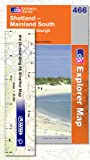 Explorer Map 466: Shetland - Mainland south by Ordnance Survey front cover