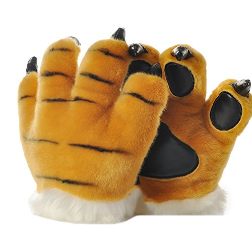 BAOBAO Soft Paw Claw Gloves Warm Animals Furry