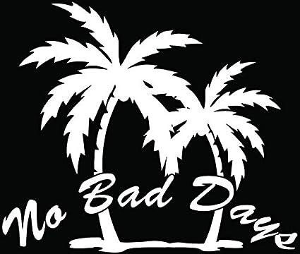 Amazoncom Hawaii Palm Trees No Bad Days Car Truck Window Bumper