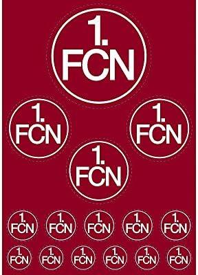 FC N/ÜRNBERG 1 FCN Color 3D LOGO FAHRZEUGAUFKLEBER AUFKLEBER 1