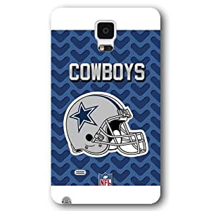 UniqueBox Customized NFL Series Case for Samsung Galaxy Note 4, NFL Team Dallas Cowboys Logo Samsung Galaxy Note 4 Case, Only Fit for Samsung Galaxy Note 4 (White Frosted Shell)