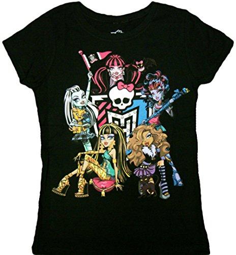 Monster High - Monster High Girls Juniors T-Shirt (Large, Black) ()