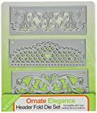 Tonic Studios 596e Header Fold Die Set, Ornate Elegance