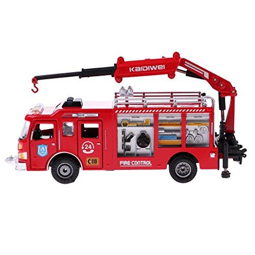 Fenteer 1:50スケール 消防車モデル トラックモデル 子供 遊ぶゲーム おもちゃ ギフト